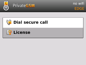 User license and license code - Enterprise Voice Security